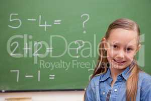 Cute schoolgirl posing