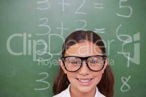 Smart schoolgirl posing