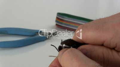 Stripping and preparing wires