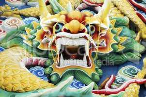 Colourful Chinese Dragon Head