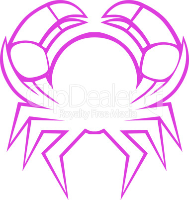 Zodiac sign cancer logo