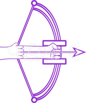 Zodiac sign sagittarius logo
