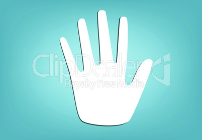 Hands silhouette. Vector Illustration.