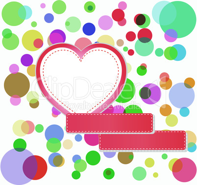romantic love hearts decoration multicolored bubbles, holiday greetings concept