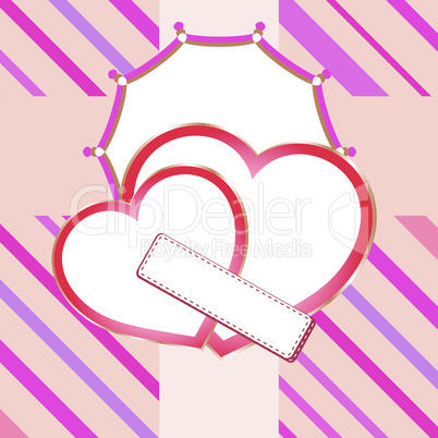 Love heart in bridal valentine cute wedding background. Vector