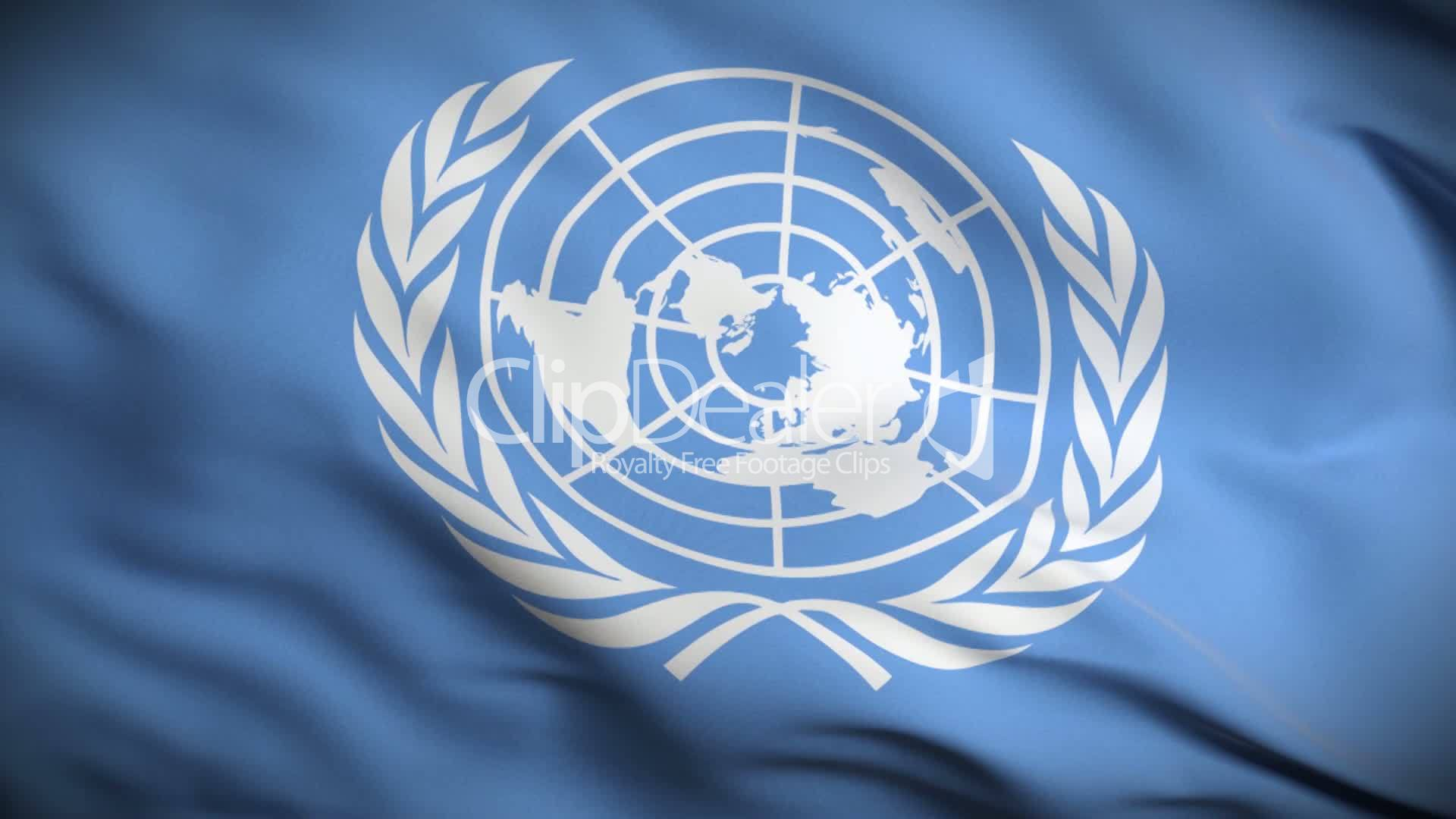 united nations flag hd  looped   royalty