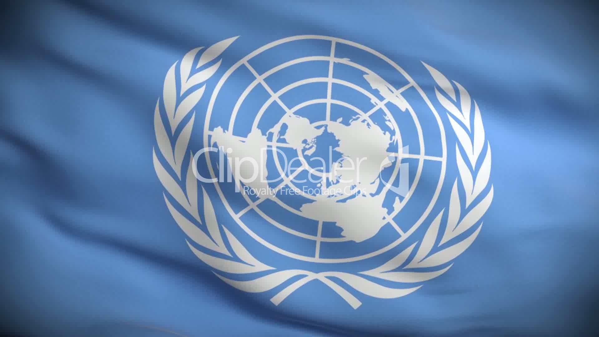United Nations Flag HD. Looped.: Royalty-free video and ...