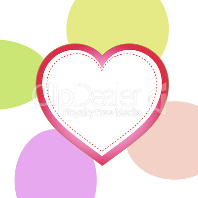 love concept, heart on grungy style, vector background