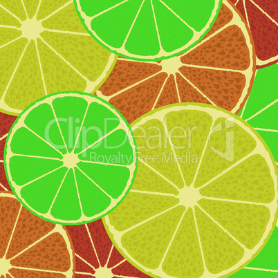 Citrus seamless vector pattern background wallpaper