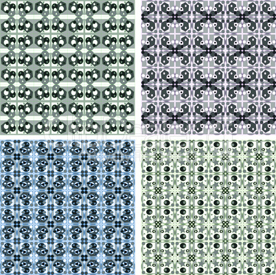 seamless vintage wallpaper pattern, abstract vector background