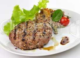 Juicy grilled hamburger