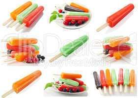 assortment of ice cream pops