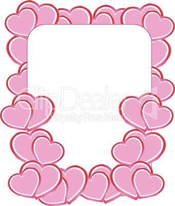 vector blank card on valentine confetti make of hearts