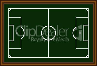 The soccer field scheme.