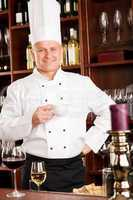 Chef cook relax coffee break restaurant