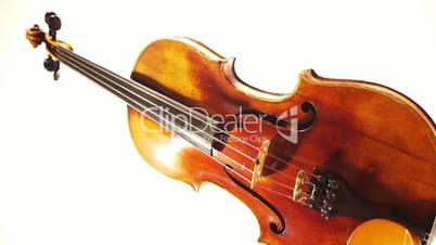 Violin Turning Vertically