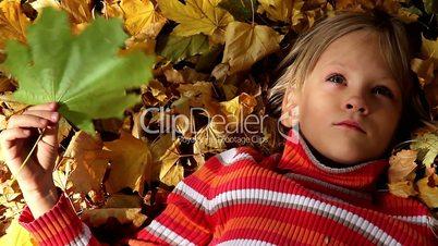 Girl and Fall