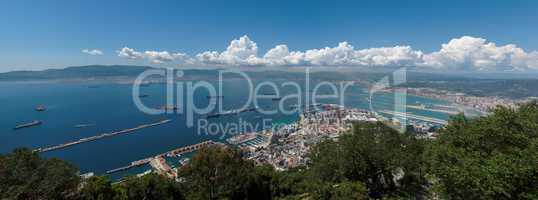 Gibraltar bay panorama
