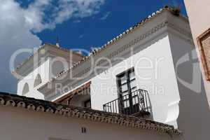 Detail of the white house in Andalusia, Spain
