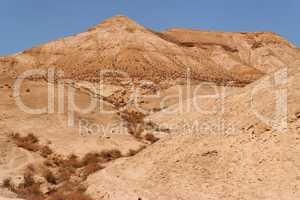 Dry creek in the stone desert