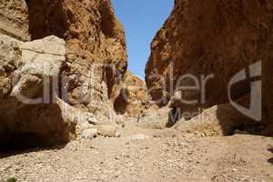 Orange desert canyon