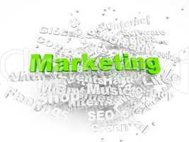 Group of Marketing related words. Part of a series of business c