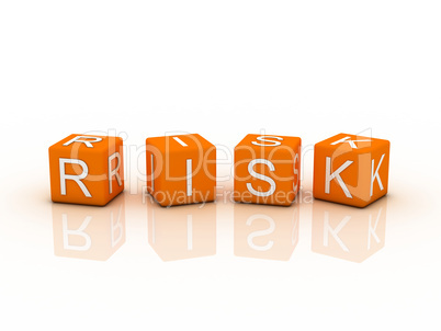 Risk Blocks, orange color on white background