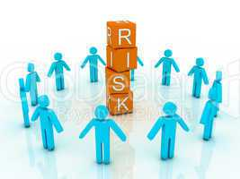 word risk showing business investment or finance concept