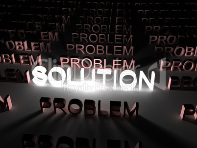 Solution concept, solution word illuminated