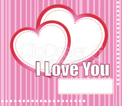 valentines hearts two shapes on pink pattern background