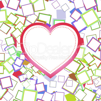 Valentines or wedding heart with abstract background