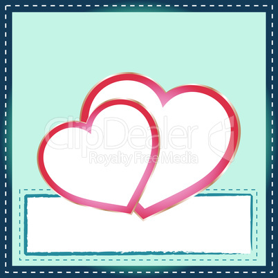 Beautiful Abstract Background with two Heart Silhouette