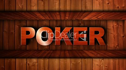 Poker Text in Wood Wall - HD1080