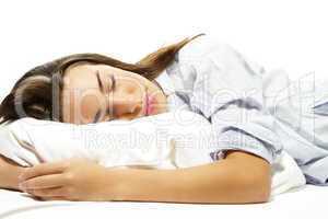 nahaufnahme einer schönen schlafenden frau