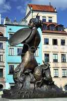 Mermaid statue in Warsaw.