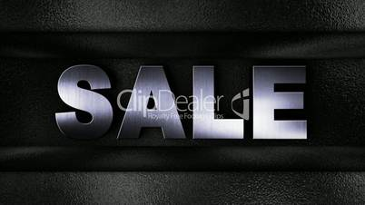 Sale Text in Metal Wall - HD1080