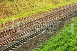 Rail lines in hollow