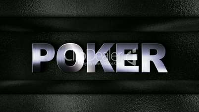 Poker Text in Metal Wall - HD1080