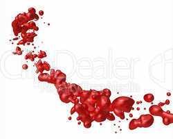 Blut Spritzer freigestellt