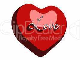 Comic Herz mit Text - Love