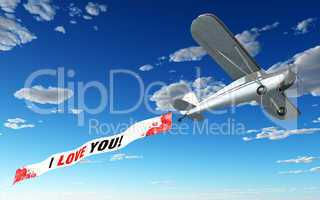 Flugzeug Banner - I love u