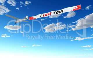Flugzeug Werbung - i love u