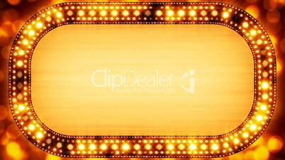 golden casino neon banner loopable