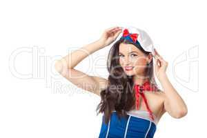 Portrait of a sexy sailor woman