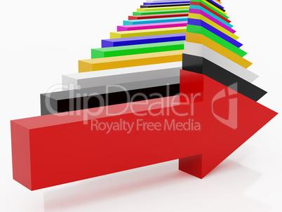 multi-coloured arrows