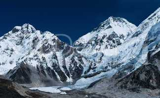 Peaks not far Gorak shep and Everest base camp