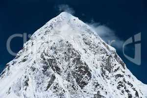 Pumo Ri Peak in Himalaya mountains