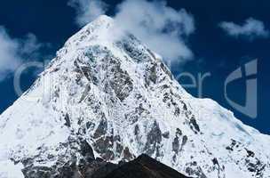 Pumori and Kala Patthar mountains in Himalayas