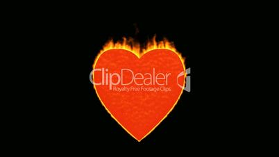 valentine's day energy heart,fire heart burning.