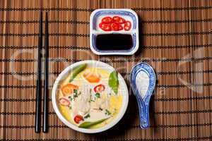Thailändische Tom Kha Gai Suppe